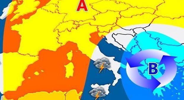 Previsioni meteo, bollino rosso fino a venerdì: poi temperature giù di 15 gradi