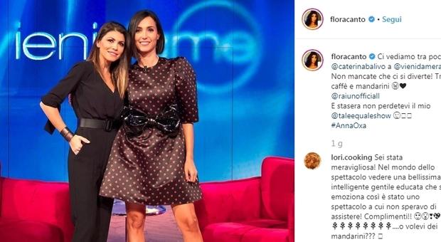 Caterina Balivo, a Vieni da Me la sorpresa di Brignano alla moglie Flora Canto: lacrime in studio