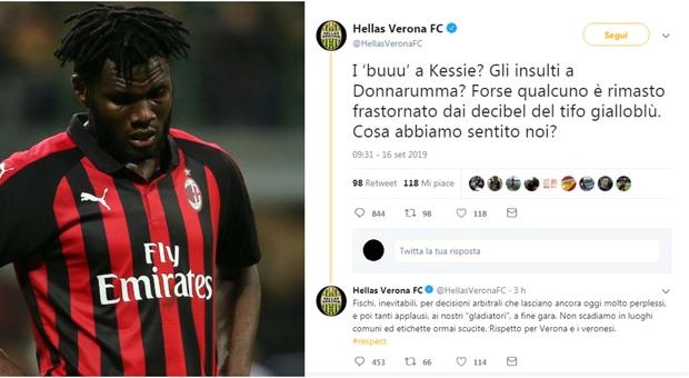 Hellas Verona: «Cori razzisti? No, forse qualcuno è rimasto frastornato». E sui social scoppia la bufera