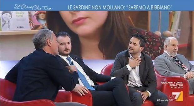 Massimo Giletti, lite furiosa con Furfaro su Bibbiano. «Stia attento a quello che dice»