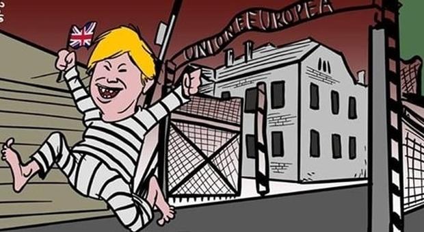 La Ue come Auschwitz, polemica sul vignettista Marione. Virginia Raggi si dissocia