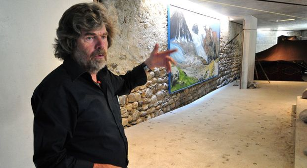 Messner nel suo museo