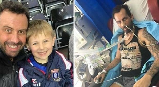 Mangia il pollo al curry mentre il figlio gioca a rugby e resta paralizzato da rara sindrome