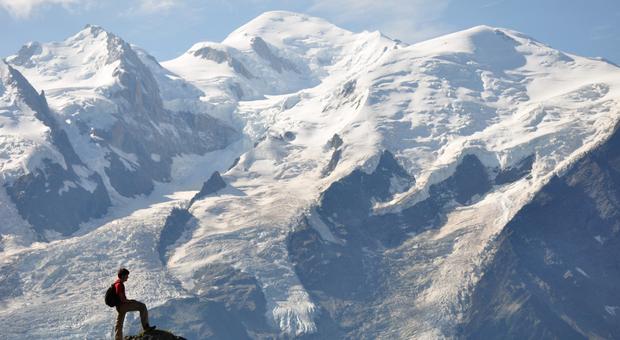 Il Monte Bianco dal Brévent, sul versante francese