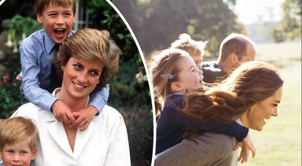 Kate Middleton, il tenero messaggio alle mamme durante l'emergenza coronavirus e la foto con Lady Diana