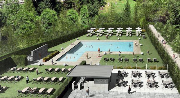 Hotel con piscina all 39 aperto il bellunese avr la prima arricchita l 39 offerta turistica - Hotel con piscine termali all aperto ...