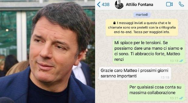 Renzi e il fuorionda di Fontana, il leader di Iv pubblica la chat: «Non è vero che odio Conte»