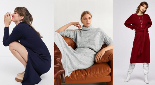 Abiti in maglia, il vestito maglione è must have per l'inverno: ecco tutti i modelli e dove trovarli