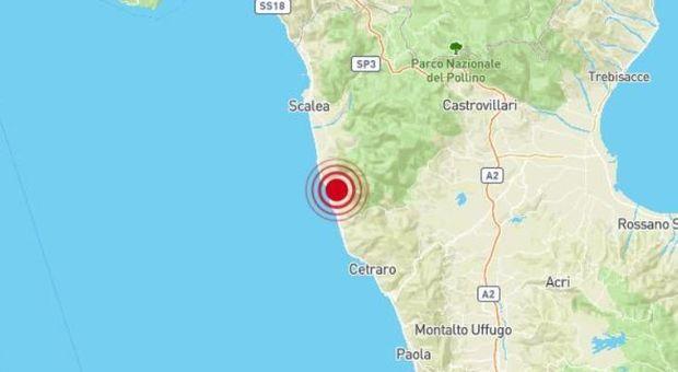Terremoto in provincia di Cosenza di 3.2, epicentro a Diamante