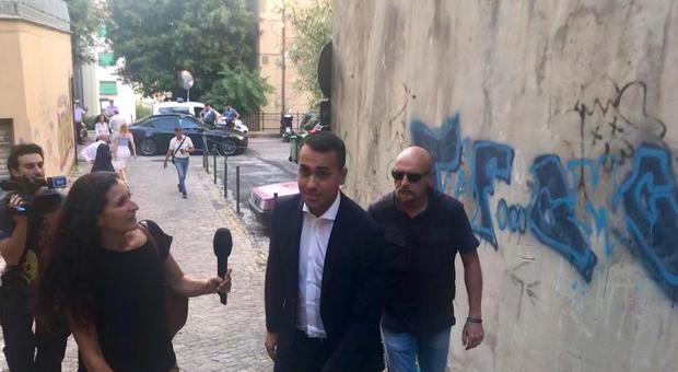 Di Maio a luglio scorso ad Ancona quando annunciò l'innesto dei facilitatori nazionali e regionali