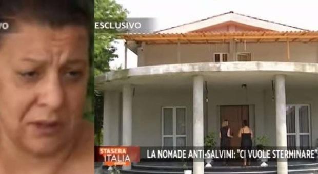 Stasera Italia va a casa della «zingaraccia» di Salvini: «Non mi pento, ci vuole sterminare»