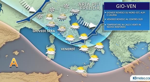 Arriva la tempesta di San Valentino e la Protezione civile avverte: «Sulle Marche di nuovo vento a 100 km orari»