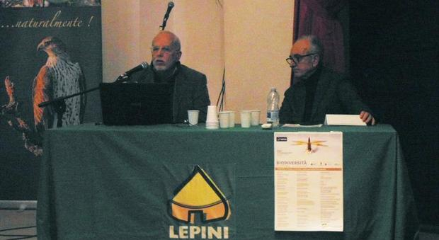 Alberto Budoni (a sinistra) e il direttore della Compagnia dei Lepini, Fabrizio Di Sauro