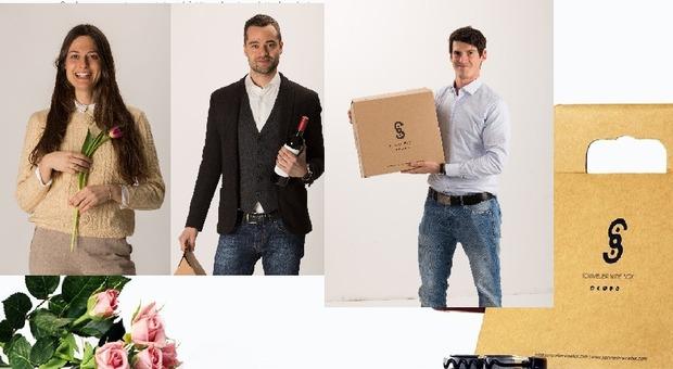 I tre giovani della start up: Sara, Luca e Alessio