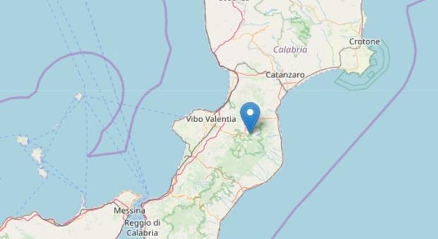 Terremoto a Vibo Valentia, scossa magnitudo 3.2 vicino Brognaturo