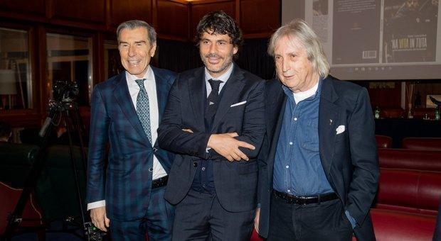 Da sinistra, Ariedo Braida, Carlo Cancellieri con Enrico Vanzina