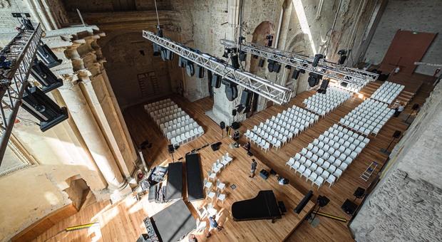 L'interno dell'auditorium di San Francesco al Prato