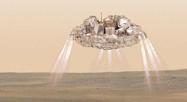 Un'immagine artistica della sonda Schiaparelli