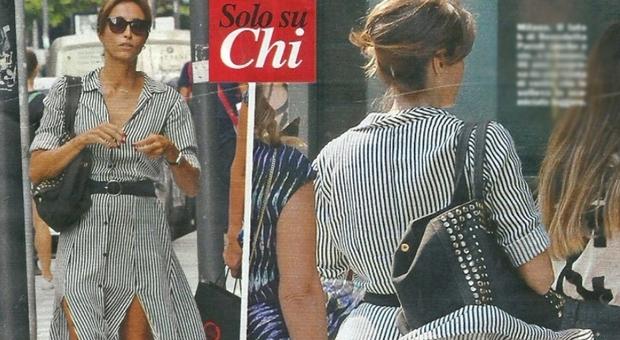 Benedetta Parodi, folata di vento birichina durante lo shopping