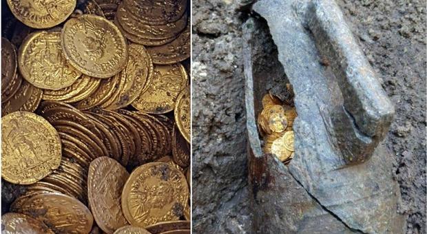 Ritrovate 300 monete d'oro romane del IV secolo: «Valgono milioni di euro»