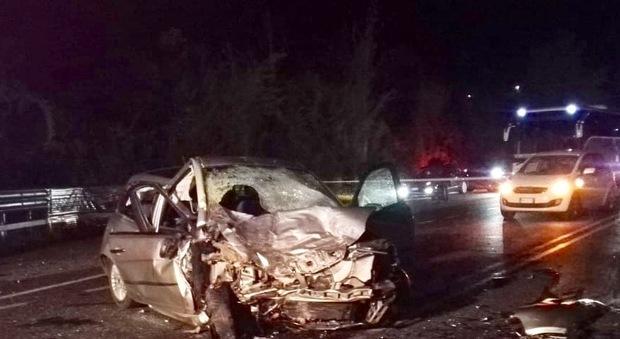 Due morti e 5 feriti, gravissima bimba di nove mesi per lo scontro fra auto a Frosinone