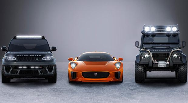 Le tre vetture della casa britannica impegnate nella prossima pellicola di 007