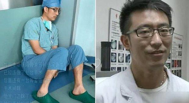 Medico si addormenta in ospedale sul pavimento dopo 7 operazioni senza sosta