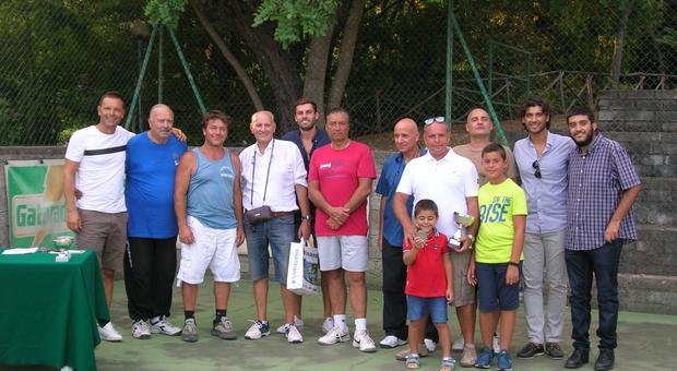 I premiati del torneo al Tennis Club Ponzanello