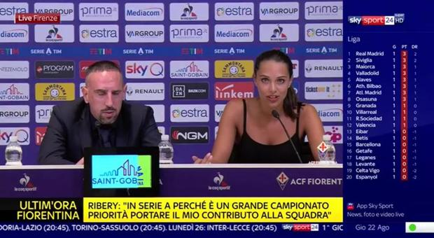 Franck Ribery alla Fiorentina, la traduttrice francese conquista Twitter: «È bellissima»