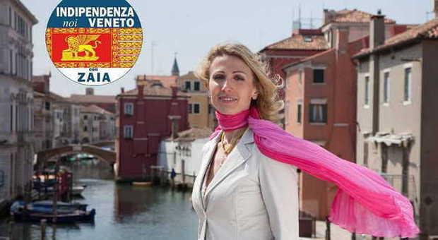 Ilaria Padoan nel suo volantino elettorale