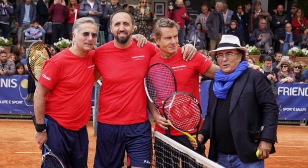Tennis & friends si chiude con 50mila visitatori: vincono il torneo celebrity Paolo Bonolis e Jimmy Ghione