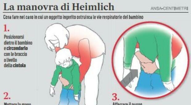 Bambino di 2 anni rischia di soffocare per un boccone di traverso, vigile lo salva con la manovra di Heimlich