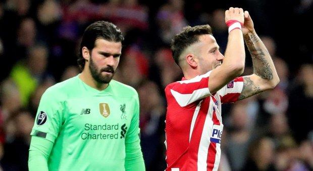 Champions, Atletico Madrid-Liverpool 1-0: Saul stende Klopp al Wanda Metropolitano