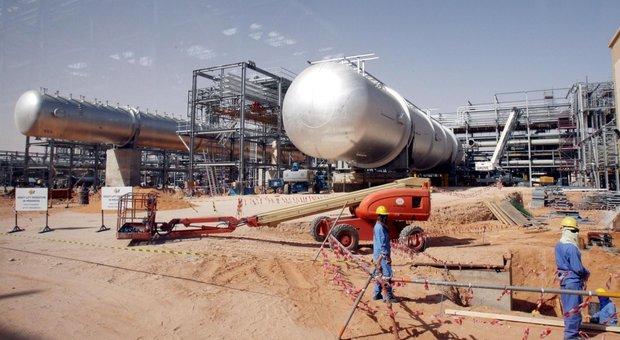 Un impianto della Saudi Aramco