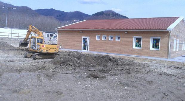 La nuova scuola di Cittareale. Ora arriva anche il nuovo Municipio