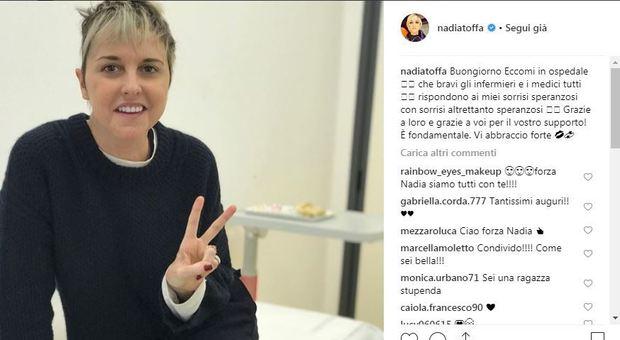 Nadia Toffa, foto dall'ospedale: «Grazie a medici e infermieri per i sorrisi speranzosi»