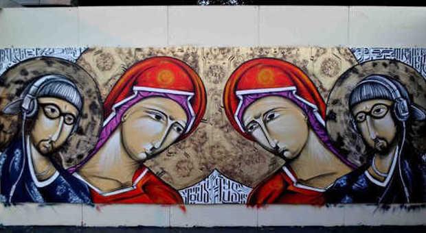 Pannello realizzato da Mr. Klevra a Urban Contest