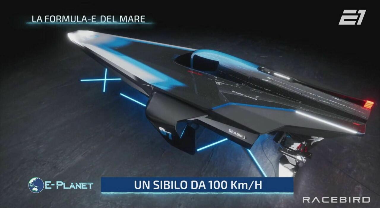 Il prototipo del futuro motoscafo elettrico della Formula E del Mare