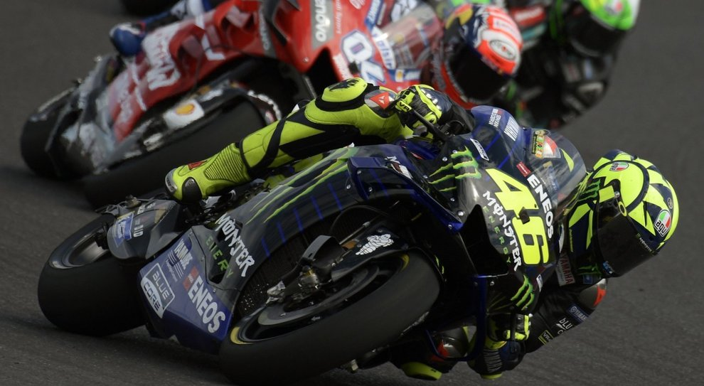 La battaglia tra Valentino Rossi e Andrea Dovizioso per il secondo posto in Argentina