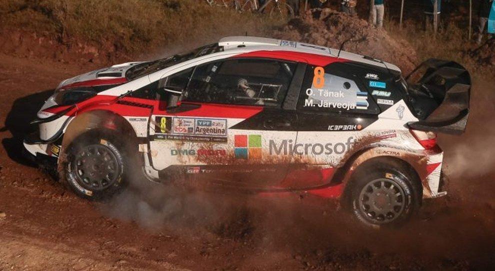 Ott Tanak ha vinto il rally d'Argentina con la sua Toyota Yaris WRC
