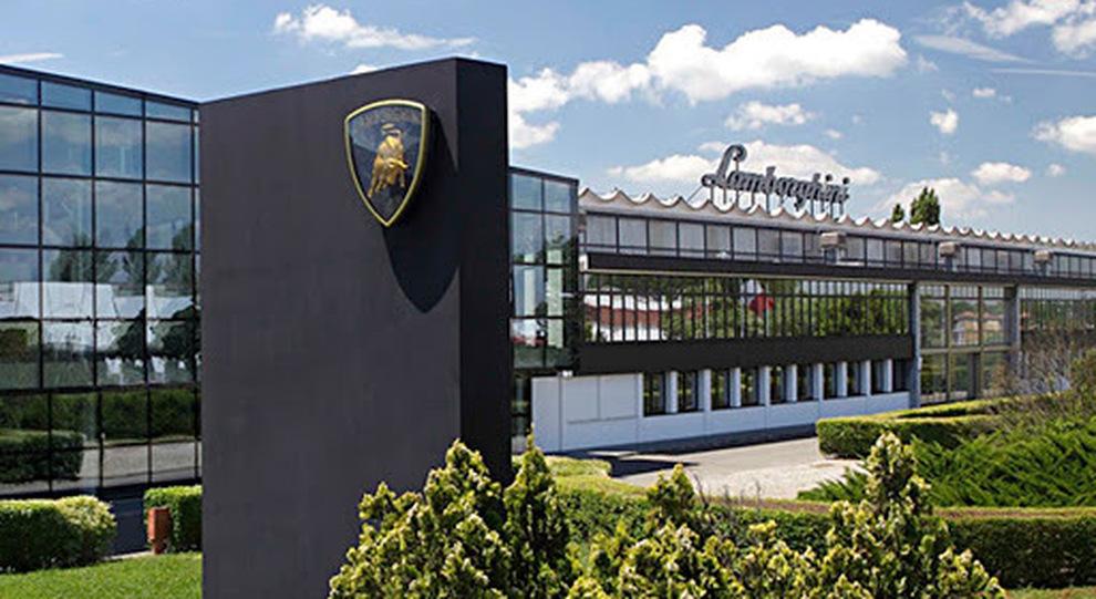 La sede Lamborghini a Sant'Agata Bolognese