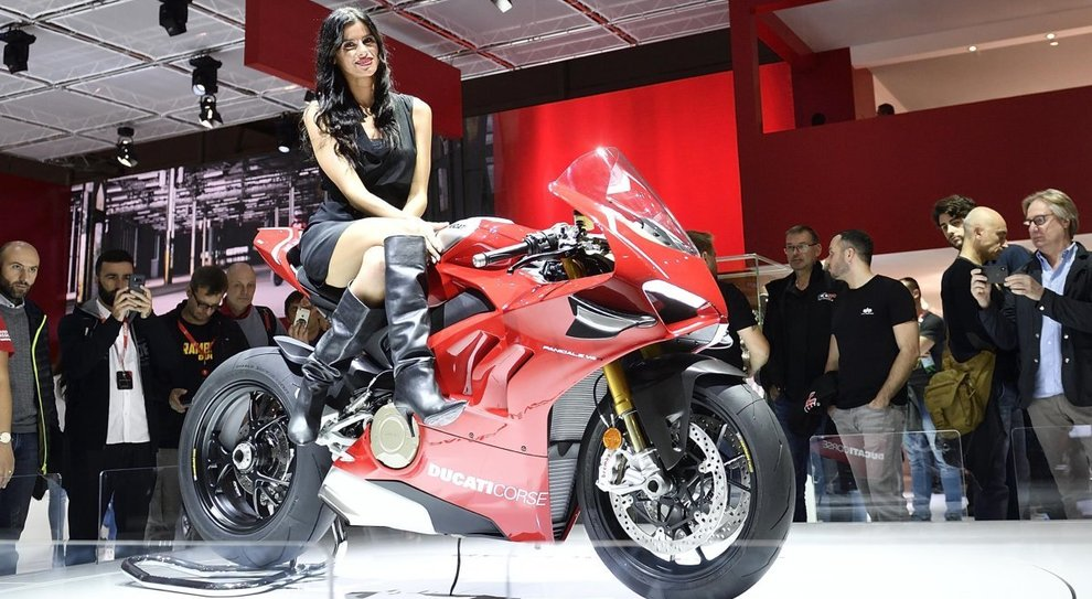 La Ducati Panigale V4 R da 1.000 cc è stata la regina della manifestazione milanese