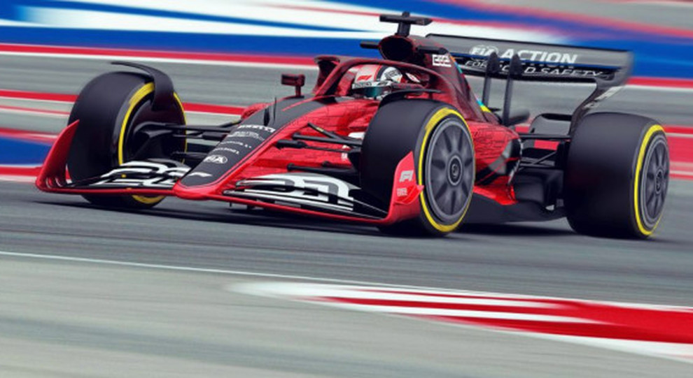 Nella foto, un modello di come potrebbero essere le F1 del futuro