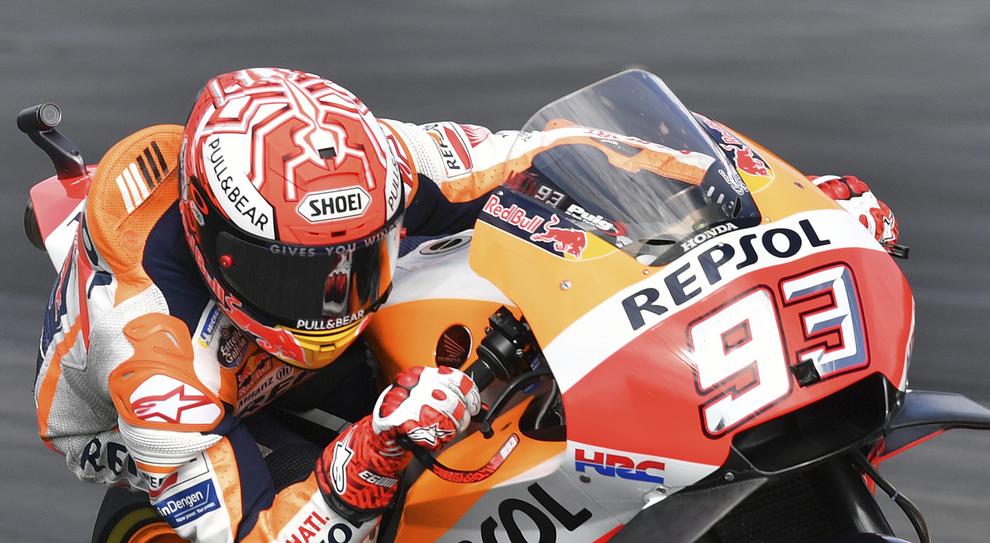 Marc Marquez in sella alla sua Honda a Zeltweg
