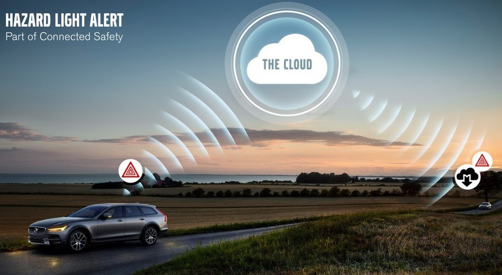 Un teaser per spiegare la tecnologia Volvo Hazard Light Alert