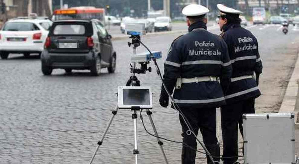 Un autovelox mobile nella Capitale