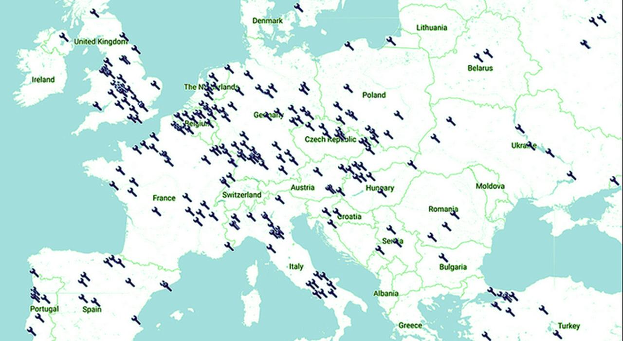 Il collocamento dei siti industriali auto in europa