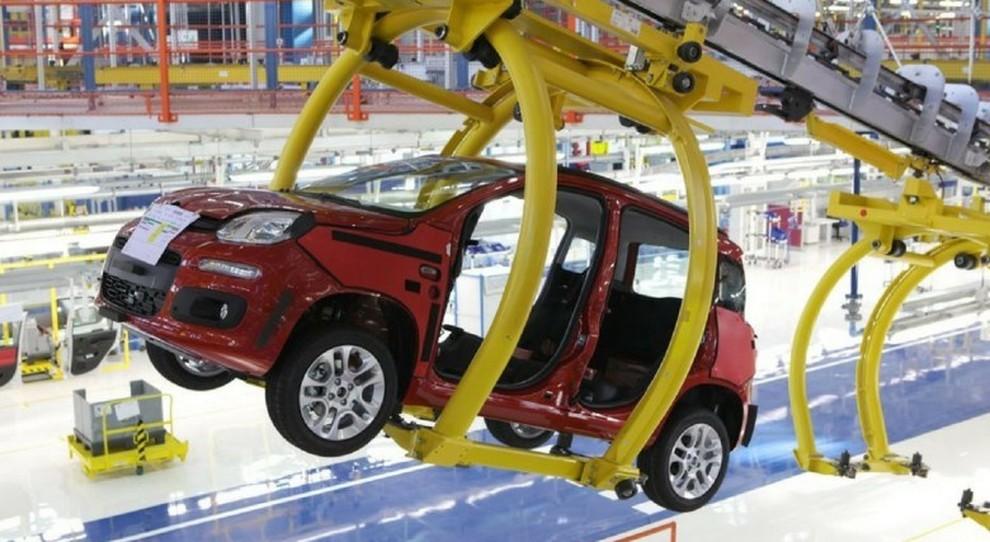 La produzione della Fiat Panda a Pomigliano