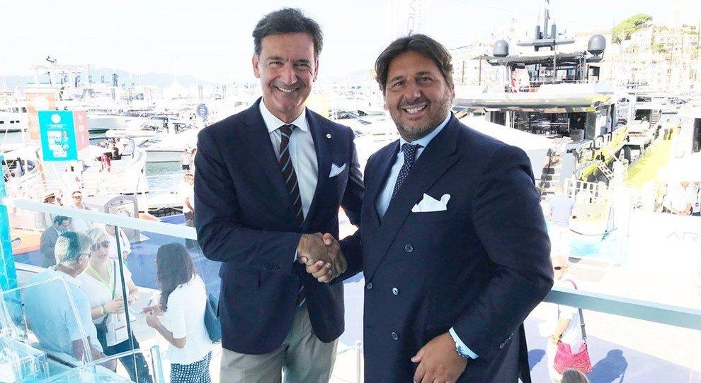 A sinistra Paolo Moretti, Executive Vice President Marine Strategic Development del RINA, e Lamberto Tacoli, presidente di Nautica Italiana