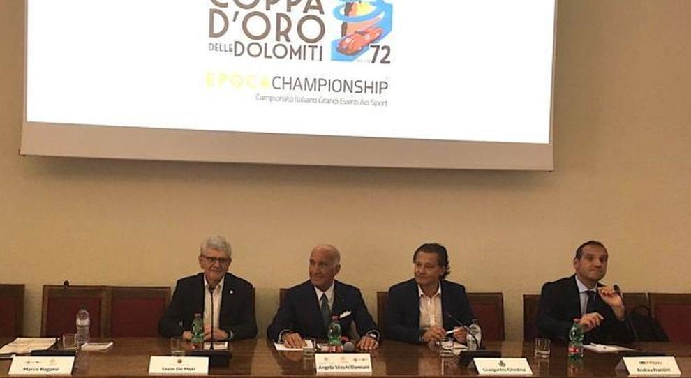 Un momento della presentazione della 72^ Coppa d'Oro delle Dolomiti